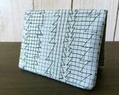 Card Wallet - Graph Paper Doodle