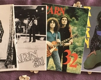 Marc Bolan T. Rex RARN Official Fan Club Zines 6 Vintage Fanzines British UK Magazines 29 30 31 32 33 34