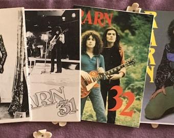 Marc Bolan RARN Official Fan Club Zines 6 Vintage Fanzines British UK Magazines 29 30 31 32 33 34
