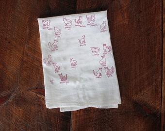 Cats Tea Towel Kitten Kitties Cute Cat Gift for Her Kitchen Towel Cotton Towel Housewarming Cat Lover Gift