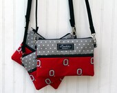 Extended Strap Padded Wristlet Mini Purse- OHIO STATE