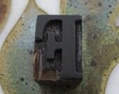 Antique Letterpress Wood Type Printers Block Letter F