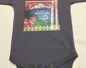 Gender Neutral Mountains Onesie - Baby Shower Gift