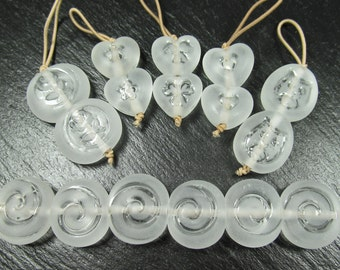 Purity collection part 2, tumbled textured beads made to order
