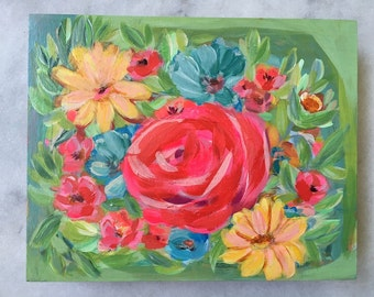 Petal Me Softly 8x10 painting