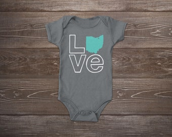 Baby Onesie - Love Ohio