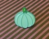 Mint green pastel pumpkin enamel pin