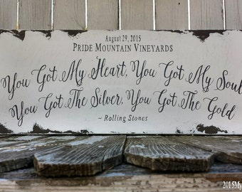 Custom Wedding Sign. Wedding Song Lyrics.Rustic Wedding. Photo Props. Vintage Signs. Wedding Reception Decor. Vintage Signs.
