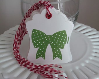 Bow Christmas tags