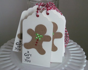Gingerbread Man Christmas tags