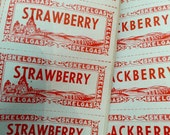 15pcs VINTAGE CANNING LABELS Strawberry Blackberry Pear Raspberry Grape Currant Plum Peach Cherry Corn Peas Beans Tomato