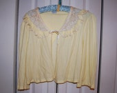 Knit Cotton Yellow Vintage Bed Jacket