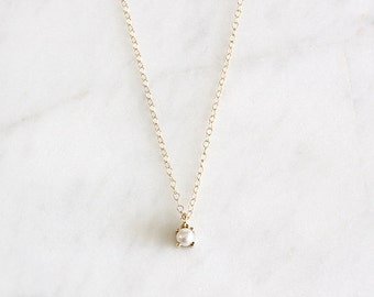 14k yellow gold akoya pearl necklace, handmade, pearl necklace, gift for her