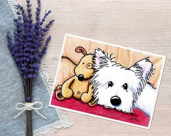 KiniArt Westie Dog Art PRINT Signed Reproduction