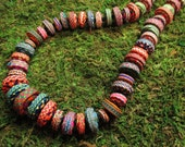 Stacker Necklace - Unique Handmade Polymer Clay Beads
