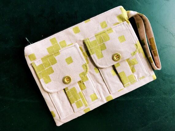 Pink Metallic Wristlet Wallet, Fabric Wallet Wristlet, Pink Wristlet Purse, Cell Phone Wallet, Large Wristlet