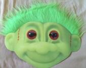 Russ Troll Halloweem Mask Pick one from Green, Pink, or Orange Hair