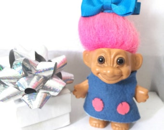 Vintage Troll in Handmade Outfit Circa 1970