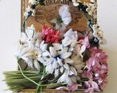 Antique millinery flowers, floral supplies, bouquets, corsages