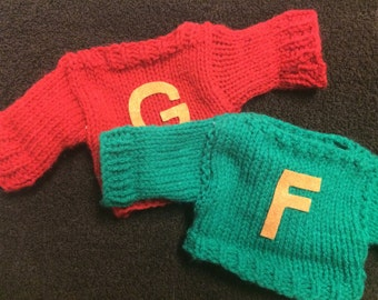 Harry Potter Miniature Weasley Sweaters - Fred and George