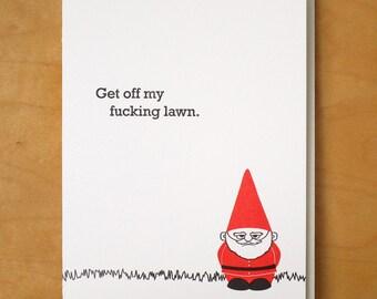 Lawn Gnome - Letterpress Card