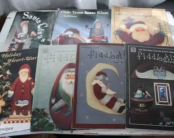 Lot of 7 SANTA & Decorative Painting CRAFT Books - Tole toleware Primitive Folk ART