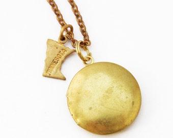 Minnesota Charm Locket Necklace