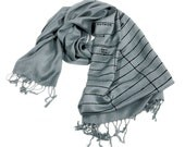 Library Card Scarf. Date Due Book Scarf. Librarian, reading, bookish gift. Black silkscreen print on dove grey pashmina scarf & more.