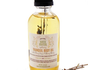 Tranquil Body Oil, Massage Oil, Bath Oil, All Natural, Aromatherapy, Body Oil, Vegan, Natural Oils, Pure Essential Oils, Natural Fragrance