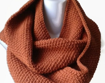 30% OFF Orange Circle Scarf Pumpkin Infinity Scarf Wool Blend Loop Men Women CHELSEA Ready to Ship Sister Bestfriend Gift Autumn Fall Winter