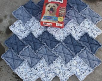 Dog Bed, Dog Blanket, Blue Dog Bed, Dog Quilt, Dog Accessories, Handmade Dog Bed, Luxury Dog Bed, Travel Dog Blanket, Crate Mat, Dog Mat