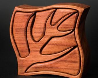 Baerreis Band Saw Box  Natural Santos Mahogany  Made By Phil Baerreis  Onward and Upward