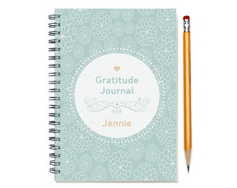 Personalized Gratitude Journal, Mindfullness Diary, Thanks Notebook, Blessings Diary, Grateful Journal, Thankfulness Book