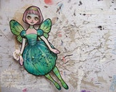 Jointed Articulated Paper Dolls - Folk Art - Paper Goods - Hand-painted - Victorian Fairy - The Faery Ball 11