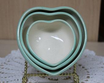 Three heart bowls