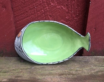 Modern FISH serving bowl tray