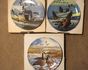 Dominion China Collector Plates - Set of Three Wings Upon the Wind by Doug Pentz CP1