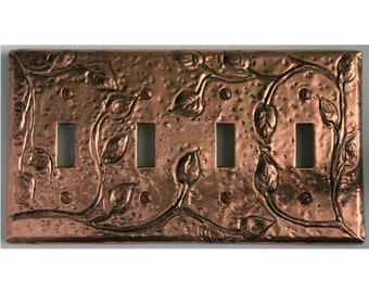 Made to order Quad Vine switch plate cover