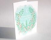 "A2 Flowers "" Dear mom, I love you"" letterpress card"