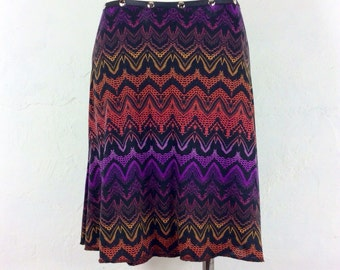 "Snap Around Skirt ""Electric Petal""  FREE SHIPPING"