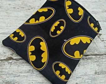 """Batman """"Batpouch"""" square zipper pouch. Superhero"""
