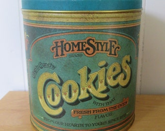 vintage 1979 Ballonoff Home Style Cookies Canister Tin