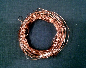 Abstract Copper Wire Bracelet w/Shell