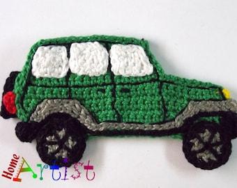 Crochet Applique car