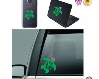 Delta Zeta Sticker, Delta Zeta Car Sticker, Delta Zeta Monogram,  DZ -  Greek Letters - Sorority Decal - Laptop Sticker - Car Decal