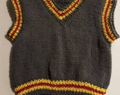 Reserved for adventurejac - Hand knit baby vest