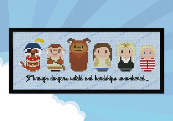 Labyrinth parody - Cross stitch PDF pattern