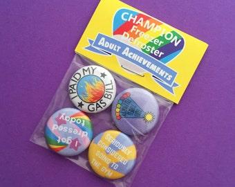 Adult Achievement Badge Pack - Button Badges