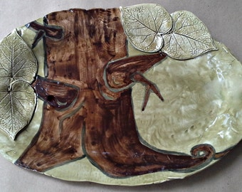 Ceramic Handcrafted Large Platter Tree