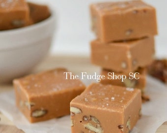 Southern Style Salted Butterscotch Fudge 1 Pound Party, Snack, Wedding, Favors, Gift, Holiday, Special, Office, Treat, Meetings, Fall Season